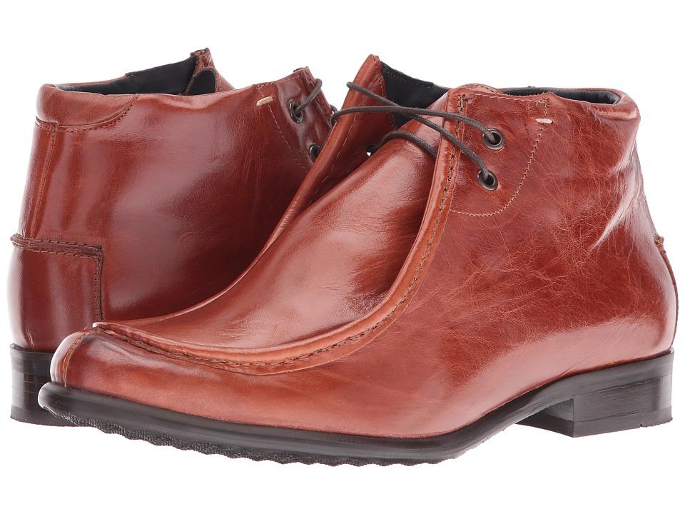 Messico - Max (Cognac Leather) Men's Dress Flat Shoes