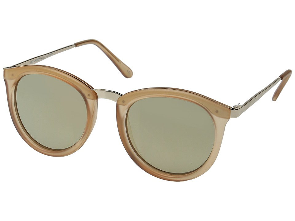 Le Specs - No Smirking (Matte Tan/Gold) Fashion Sunglasses
