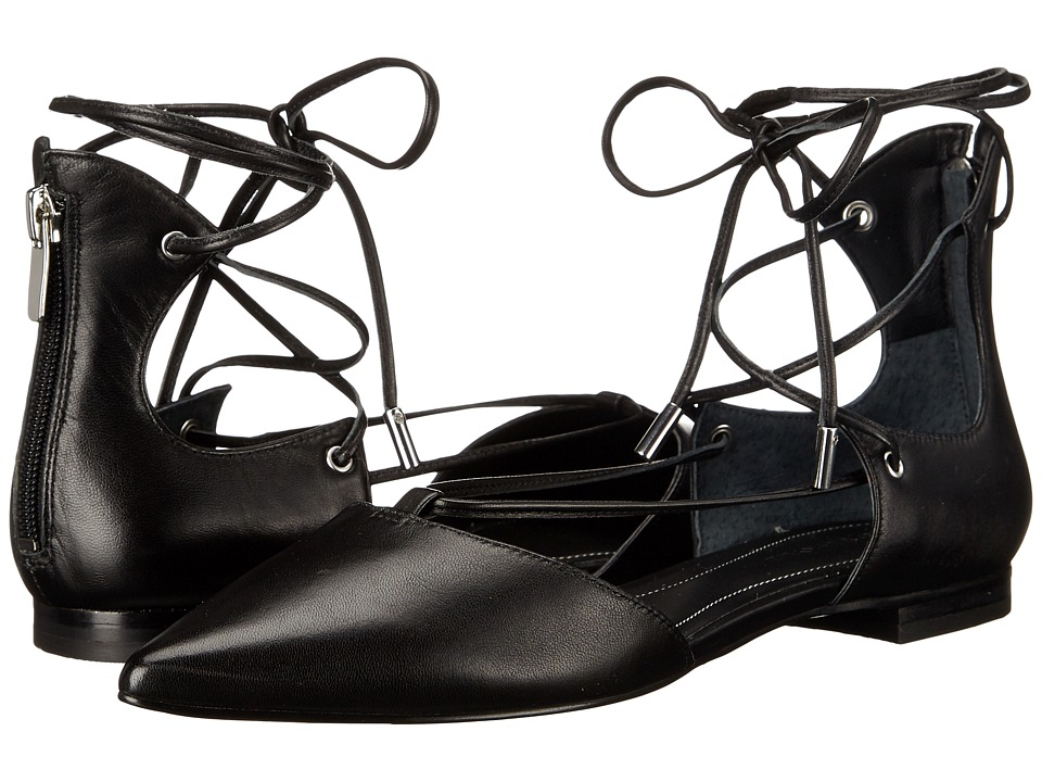 KENDALL + KYLIE - Sage 2 (Black Nappa) Women's Flat Shoes