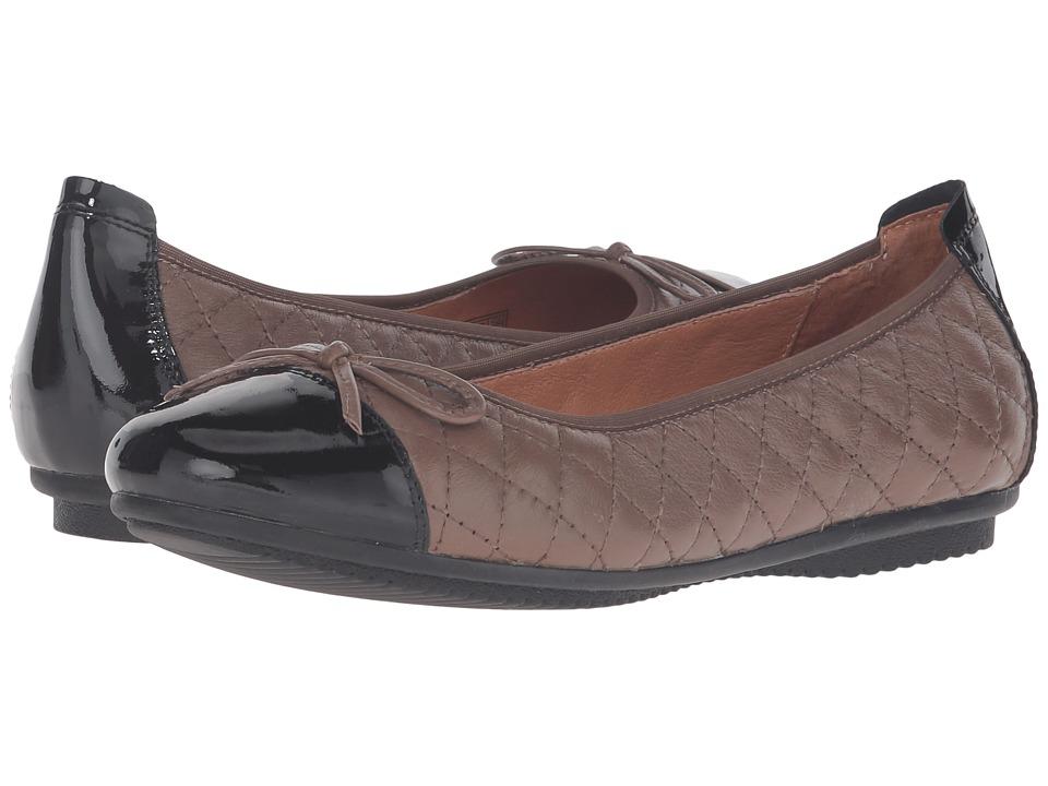 Josef Seibel - Pippa 25 (Taupe/Black) Women's Flat Shoes