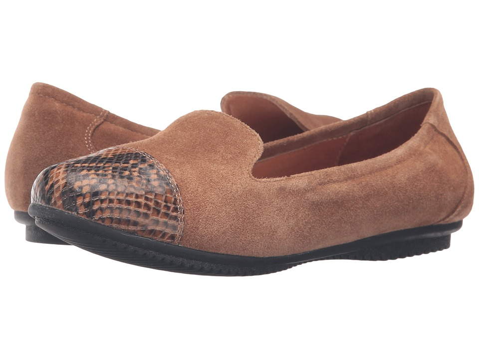 Josef Seibel - Pippa 23 (Brown/Snake) Women's Flat Shoes