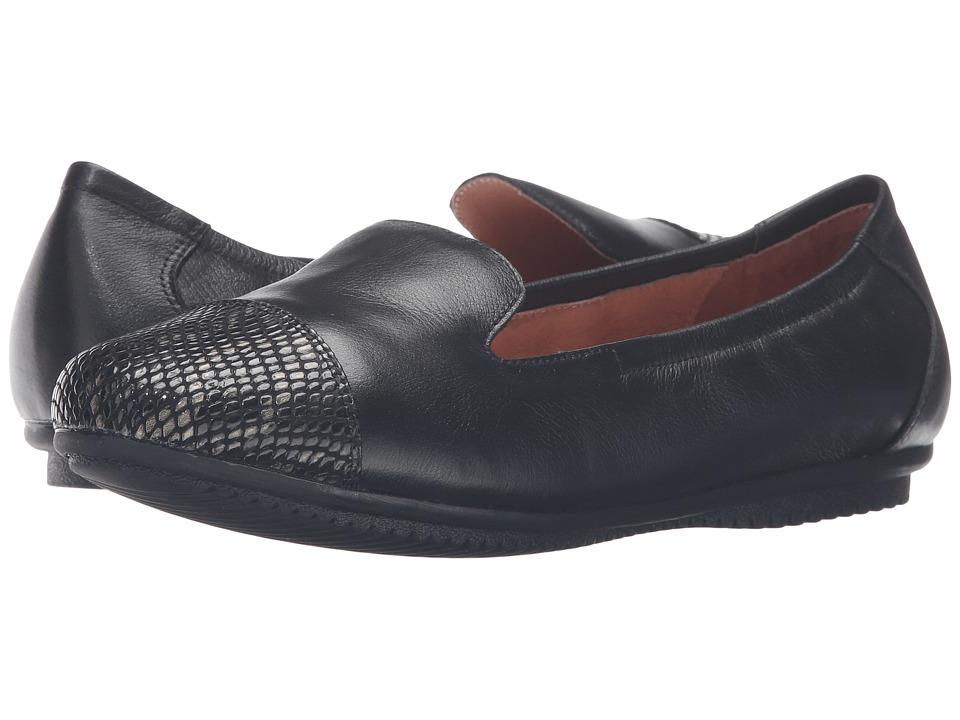 Josef Seibel - Pippa 23 (Black/Snake) Women's Flat Shoes