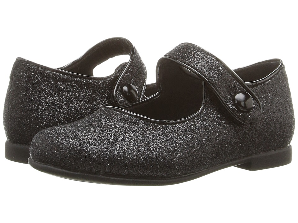 Rachel Kids - Lil Halle (Toddler) (Black Glitter) Girls Shoes