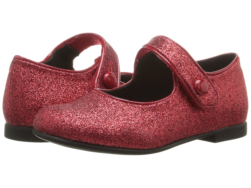 Rachel Kids - Lil Halle (Toddler) (Red Glitter) Girls Shoes