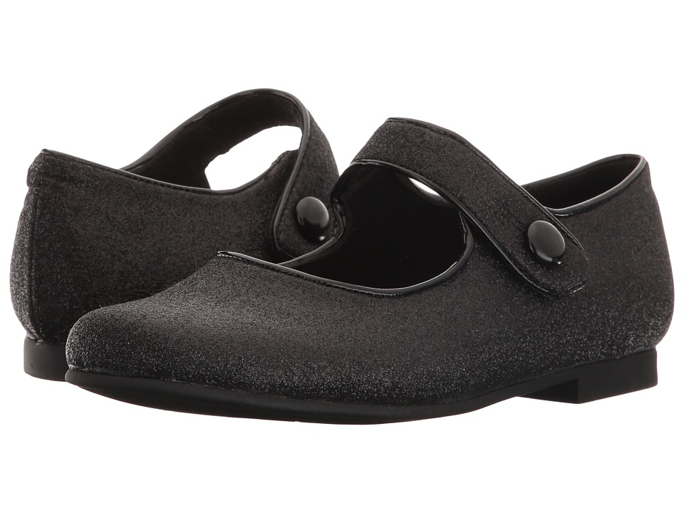 Rachel Kids - Halle (Little Kid) (Black Glitter) Girls Shoes