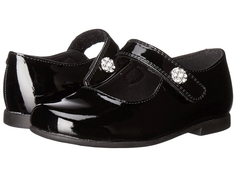 Rachel Kids - Lil Jackie (Toddler) (Black Patent) Girls Shoes