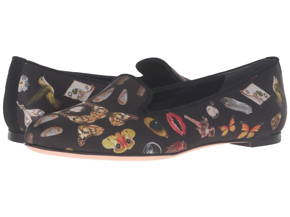 Alexander McQueen - Scarpa Pelle S.Cuoio (Black/Multi Cocktail Print/Black) Women's Shoes