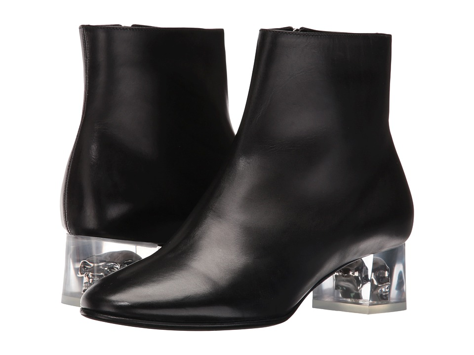Alexander McQueen - Stiv.To Pell S.Cuoio (Black) Women's Dress Zip Boots