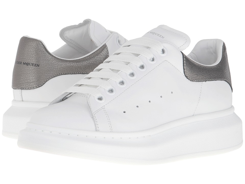 Alexander McQueen - Sneaker Pelle S.Gomm (White/Black Pearl) Women's Lace up casual Shoes