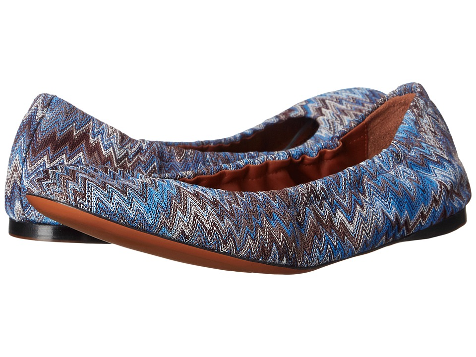 Missoni Scrunch Ballet Flat Cobalto Womens Flat Shoes