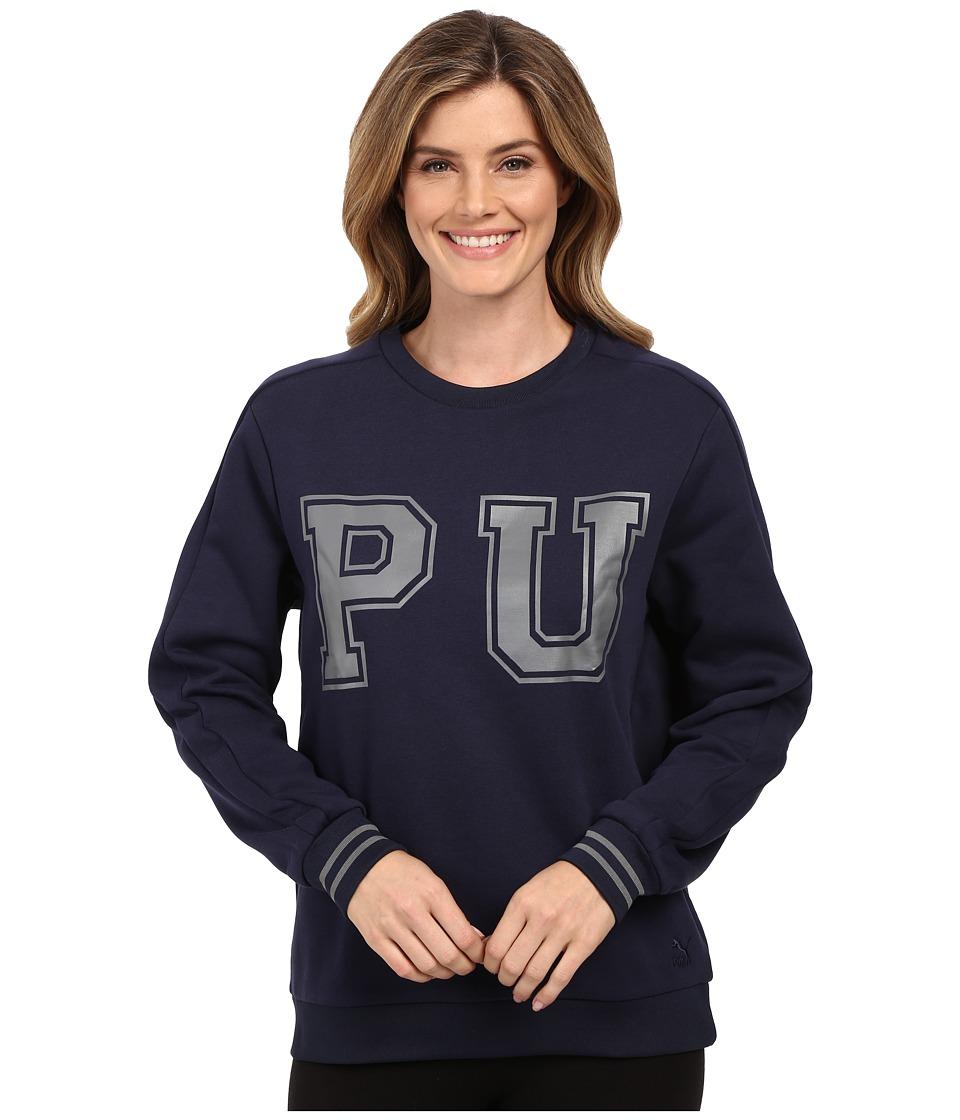 PUMA - Vashtie Crew Sweatshirt (Black Iris) Women's Sweatshirt
