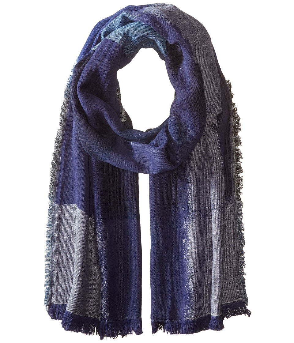 BCBGMAXAZRIA - Color Block Party Scarf (Ink) Scarves