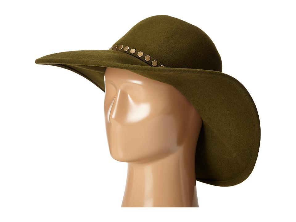 BCBGMAXAZRIA - Nail Head Floppy (Dusty Olive) Traditional Hats