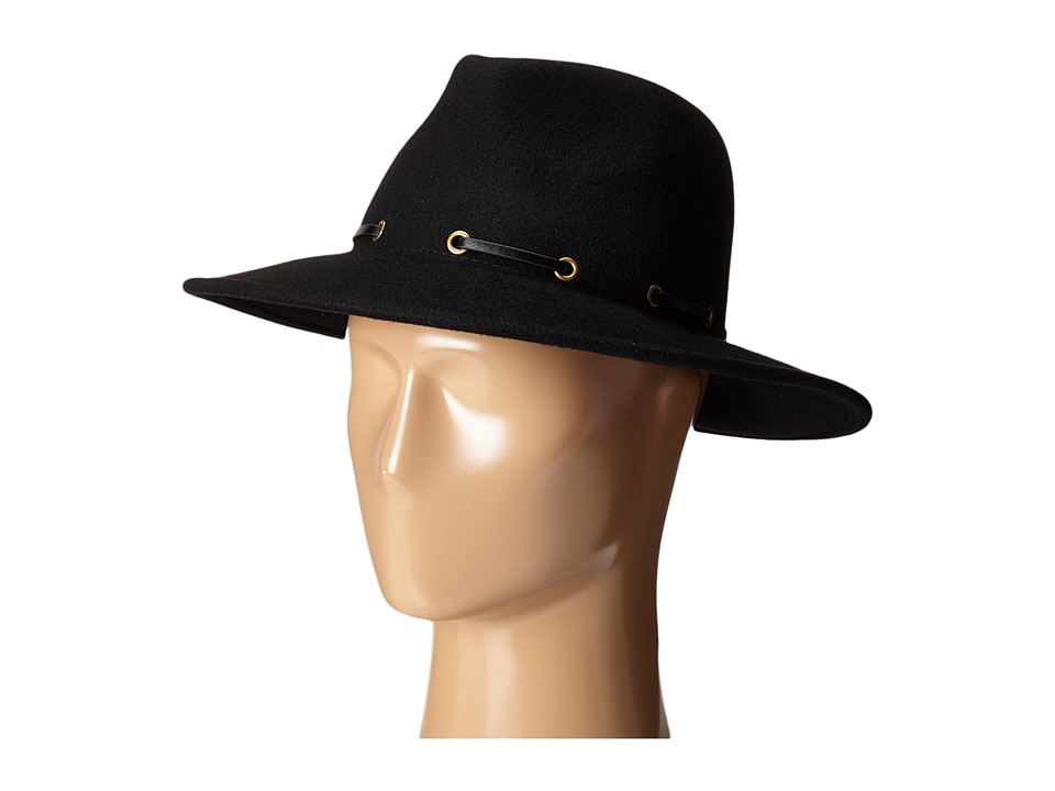 BCBGMAXAZRIA - Whipstitch Panama Hat (Black) Bucket Caps