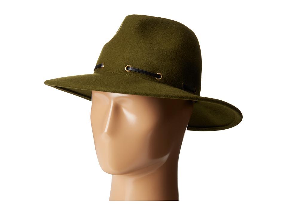BCBGMAXAZRIA - Whipstitch Panama Hat (Dusty Olive) Bucket Caps