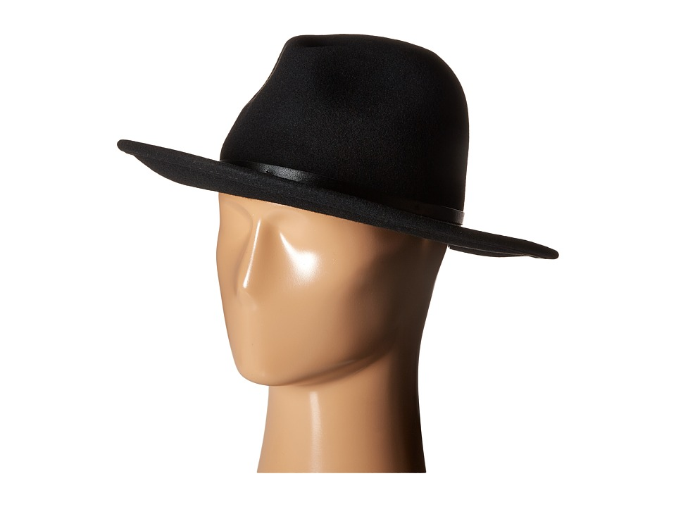 BCBGMAXAZRIA - Chained Panama Hat (Black) Bucket Caps