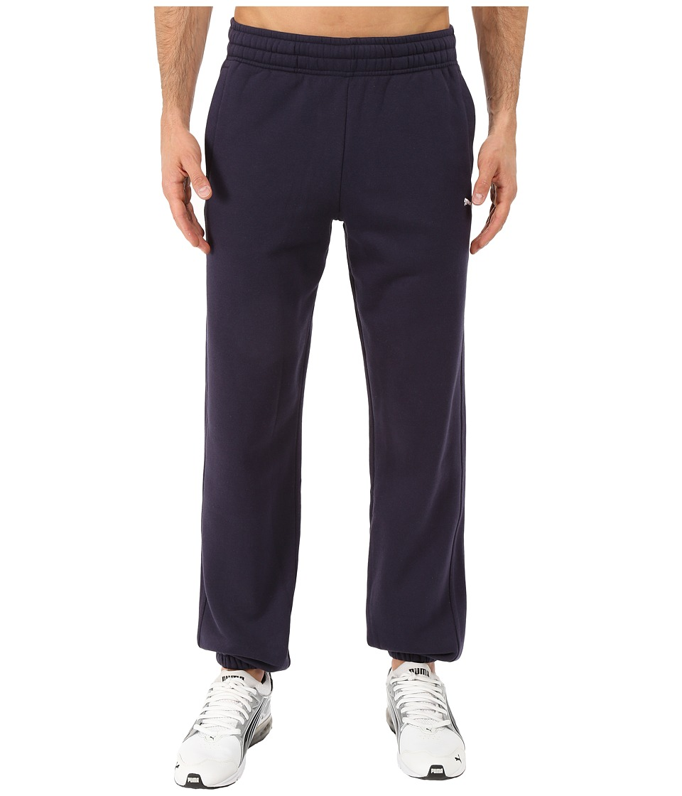 PUMA - M Closed Sweatpants (New Navy) Men's Casual Pants