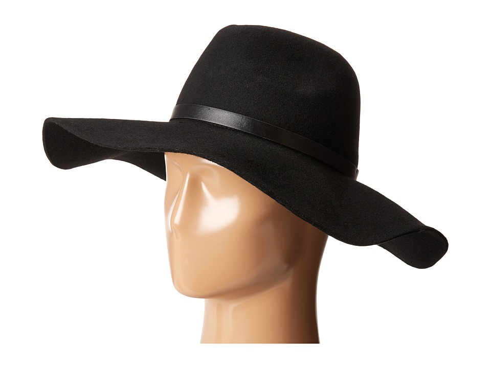 BCBGMAXAZRIA - Roller Belt Floppy (Black) Traditional Hats
