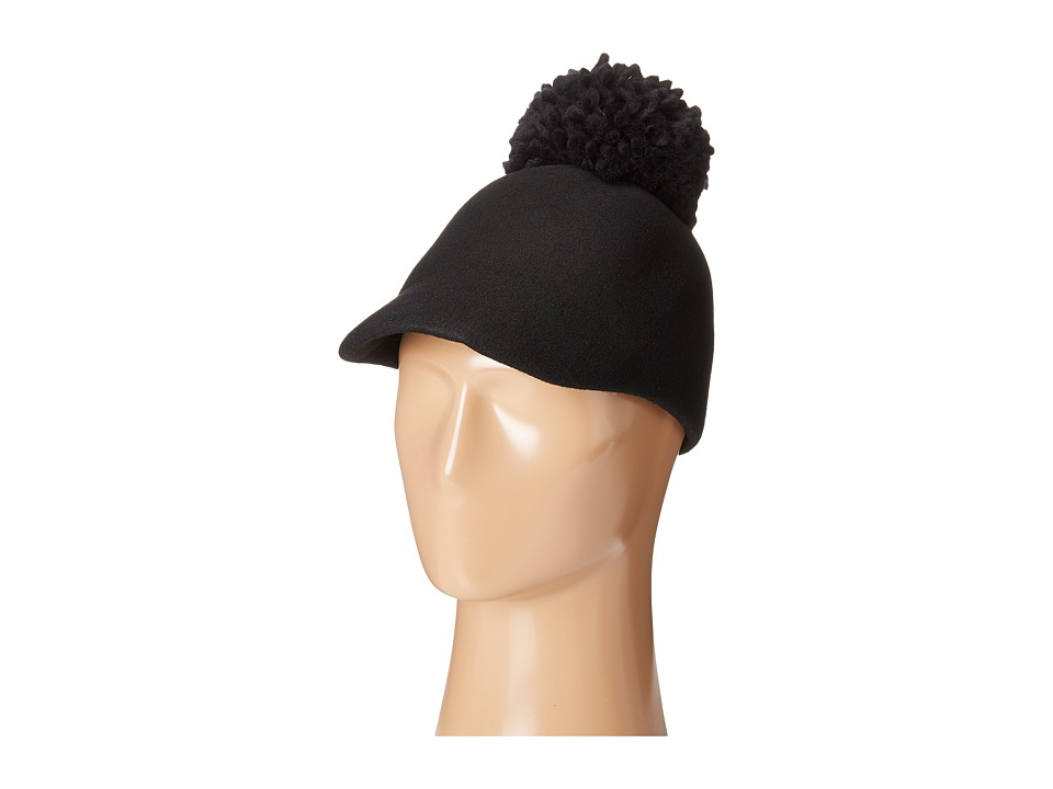 BCBGMAXAZRIA - Winter Pom Baseball Hat (Black) Baseball Caps