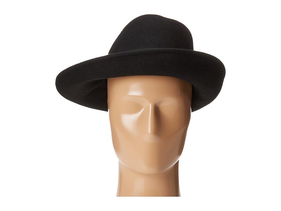 BCBGMAXAZRIA - Chain Asymmetrical Fedora (Black) Fedora Hats