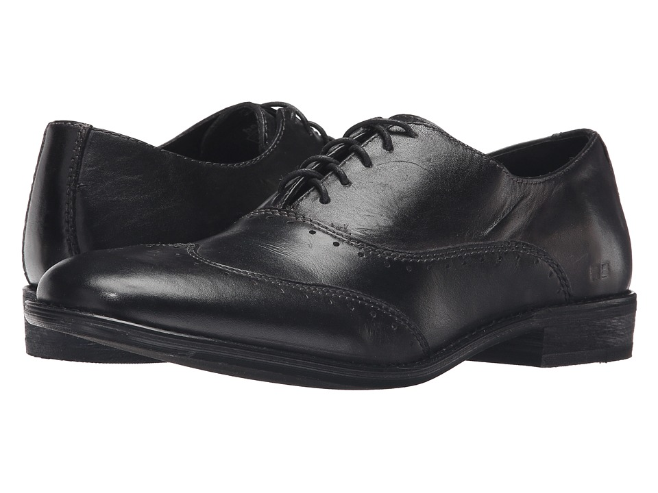 Bed Stu - George (Black Garment Dye Leather) Men's Lace Up Wing Tip Shoes