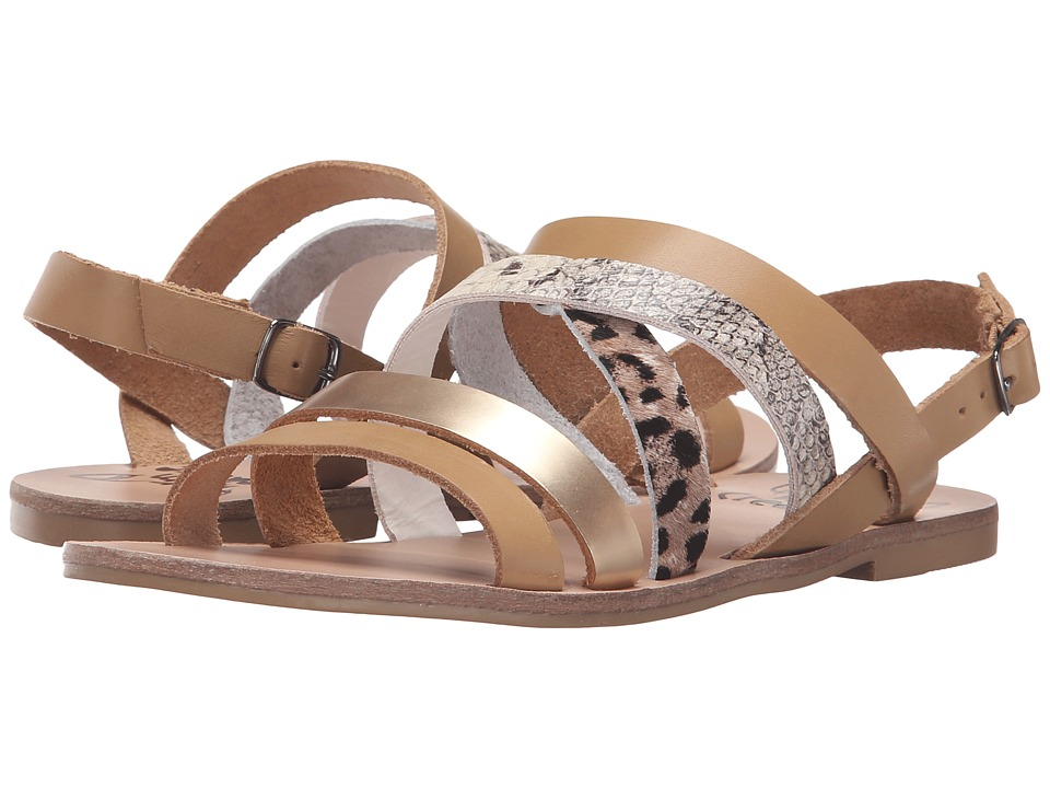 Warm Creature - Aurora (Natural/Gold/Pony/Snake) Women's Sandals
