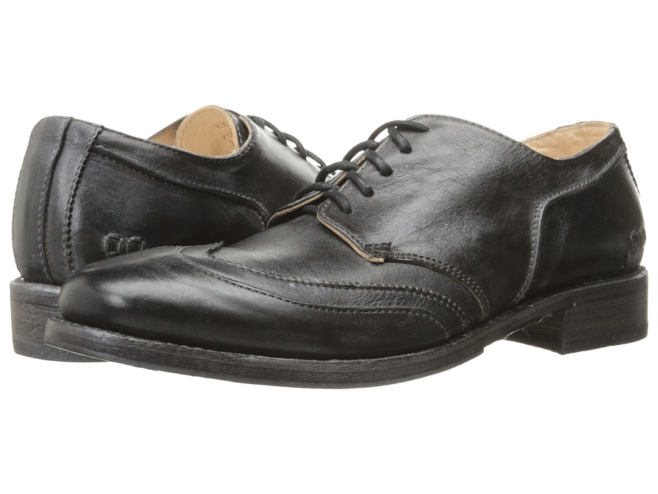 Bed Stu - Basalt (Black Rustic Steel Blue Leather) Men's Shoes