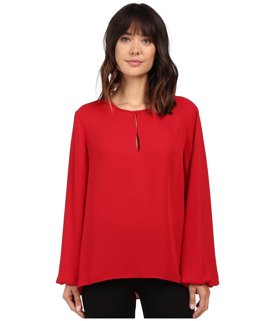 Ellen Tracy - Bishop Sleeve Blouse (Rouge) Women's Blouse