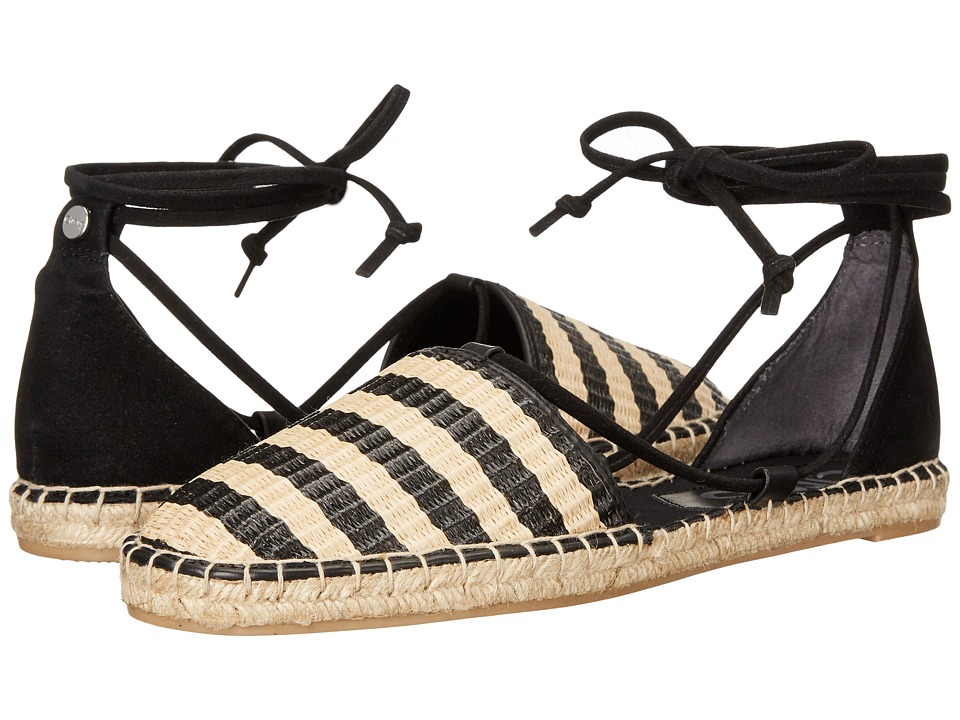 Circus by Sam Edelman - Lilly (Black/Natural Striped Raffia/Double Faced Fabric) Women's Shoes