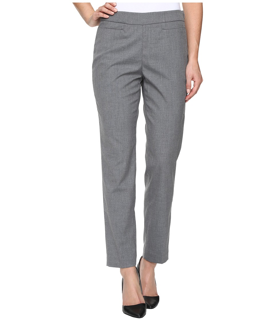 Ellen Tracy - Slim Trousers (Medium Heather Grey Plain Weave) Women's Casual Pants