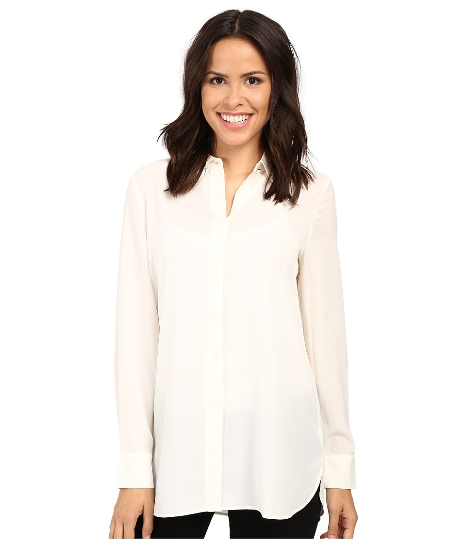 Ellen Tracy - Boyfriend Shirt (Cream) Women's Blouse