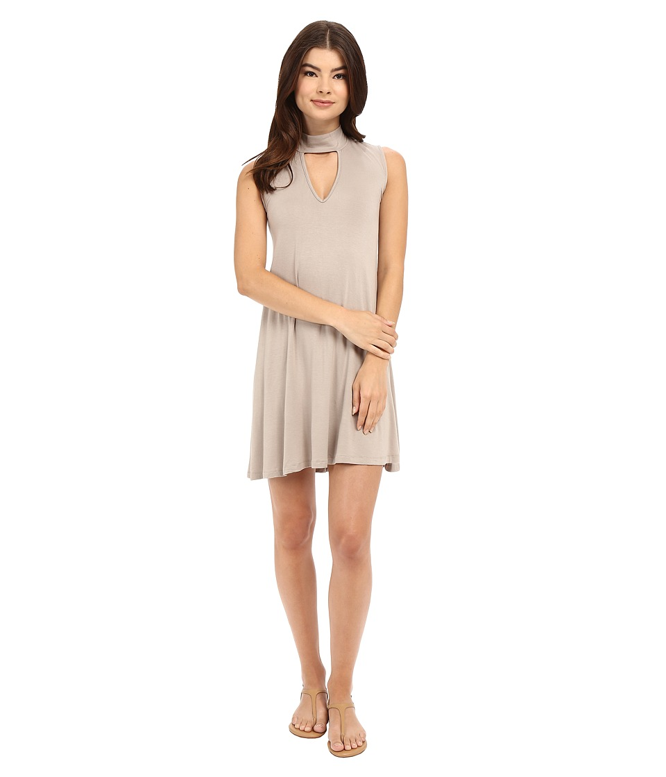 Culture Phit - Ashlynn High Neck Dress (Mocha) Women's Dress