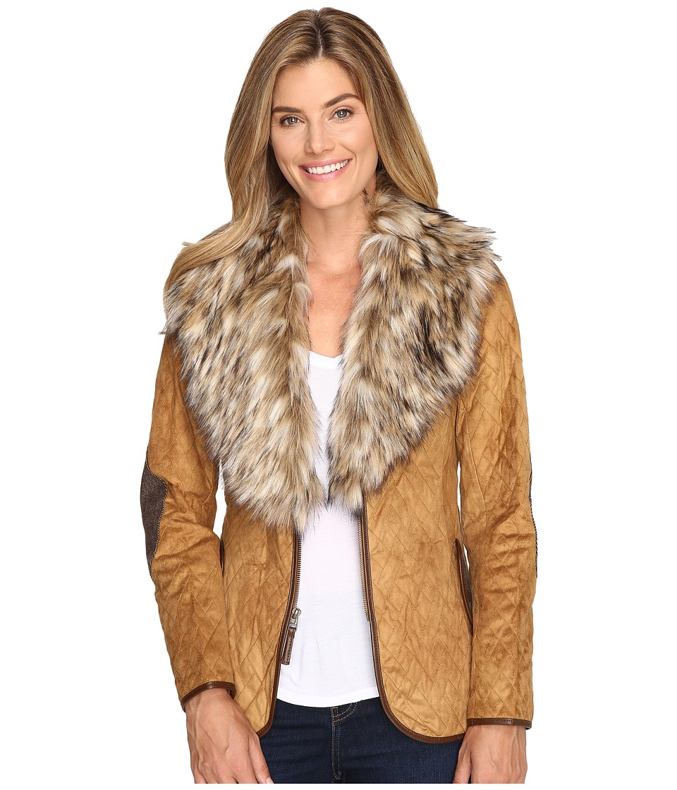 Tasha Polizzi - Quilted Hacking Jacket (Camel) Women's Coat