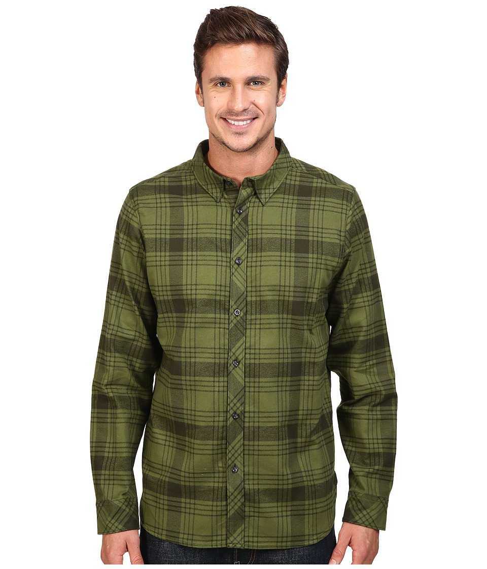 The North Face - Long Sleeve Approach Flannel (Rosin Green) Men's Clothing