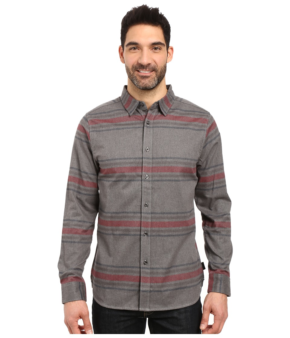 The North Face - Long Sleeve Approach Flannel (TNF Medium Grey Heather) Men's Clothing