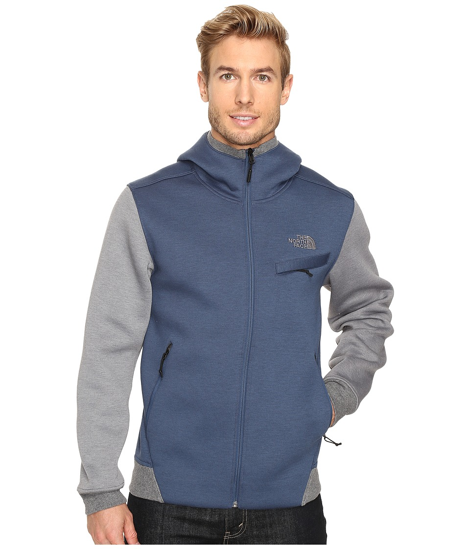 The North Face - Thermal 3D Full Zip Hoodie (Shady Blue/Black Heather) Men's Sweatshirt