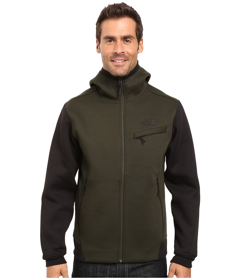 The North Face Thermal 3D Full Zip Hoodie (Rosin Green/Black Heather) Men