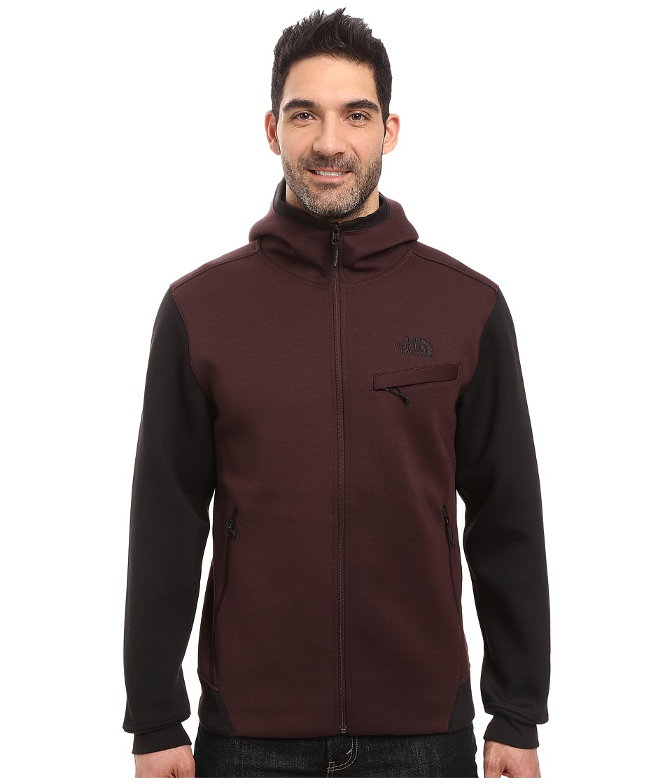 The North Face Thermal 3D Full Zip Hoodie (Root Brown/Black Heather) Men
