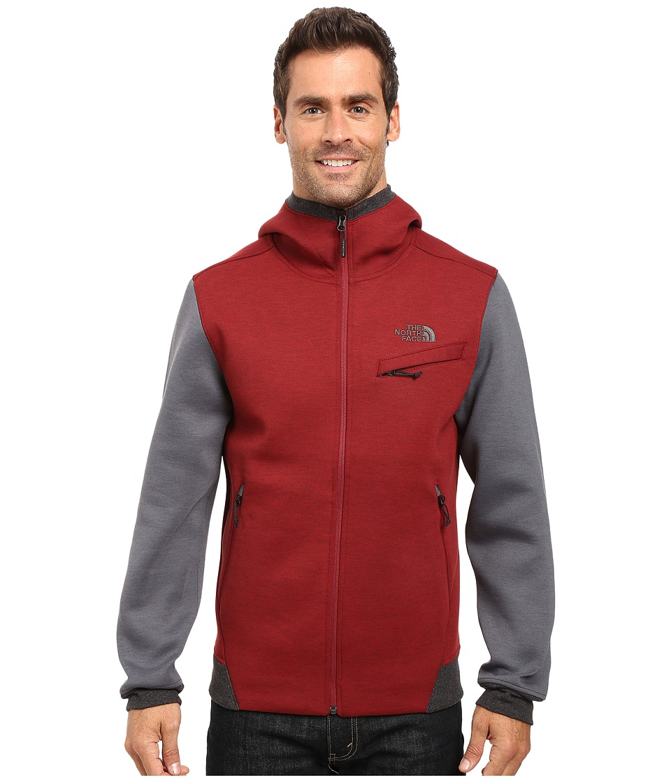 The North Face - Thermal 3D Full Zip Hoodie (Biking Red/Black Heather) Men's Sweatshirt
