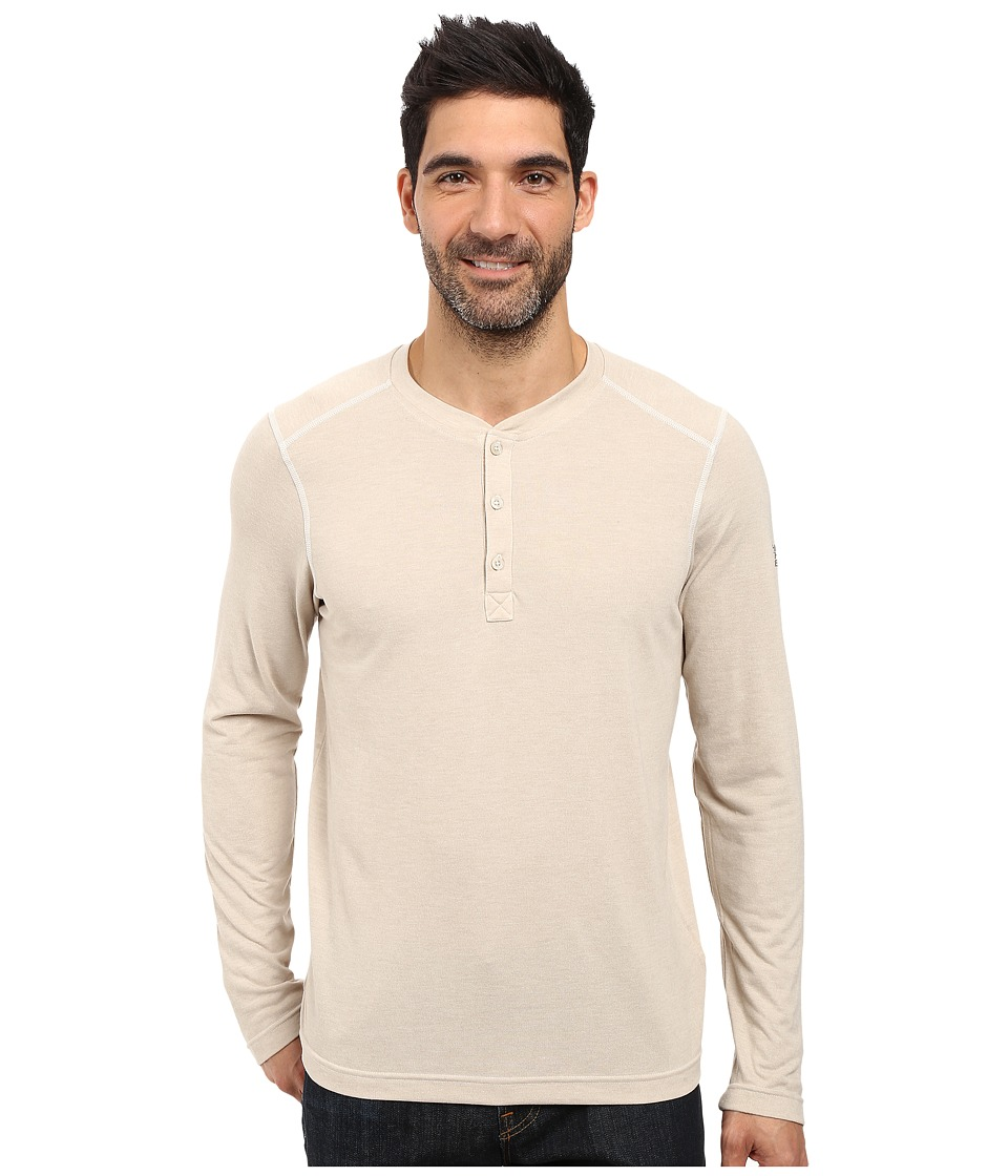 The North Face - Long Sleeve Crag Henley (TNF Oatmeal Heather) Men's Clothing