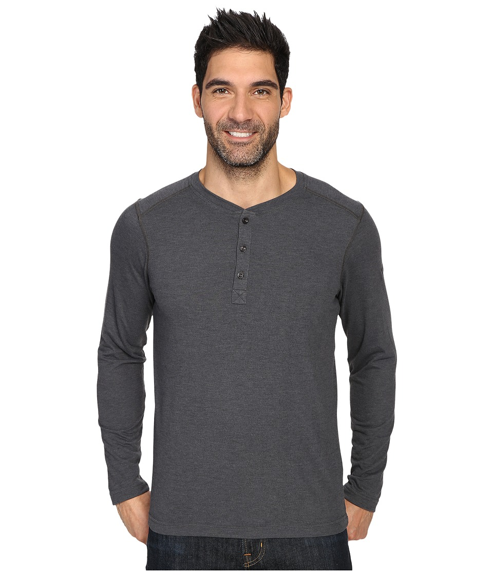 The North Face - Long Sleeve Crag Henley (TNF Dark Grey Heather) Men's Clothing