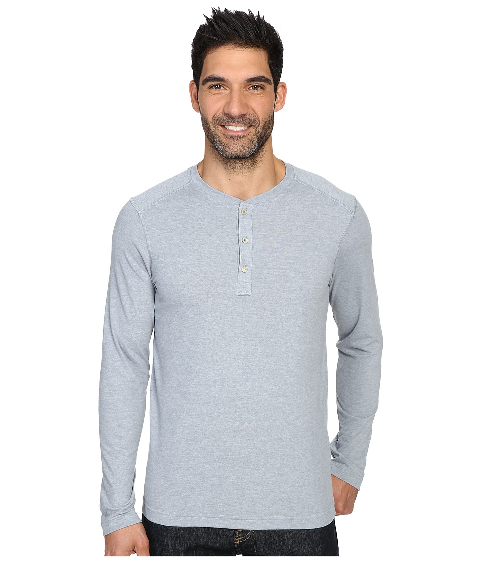The North Face Long Sleeve Crag Henley (Worn Blue Light Heather) Men