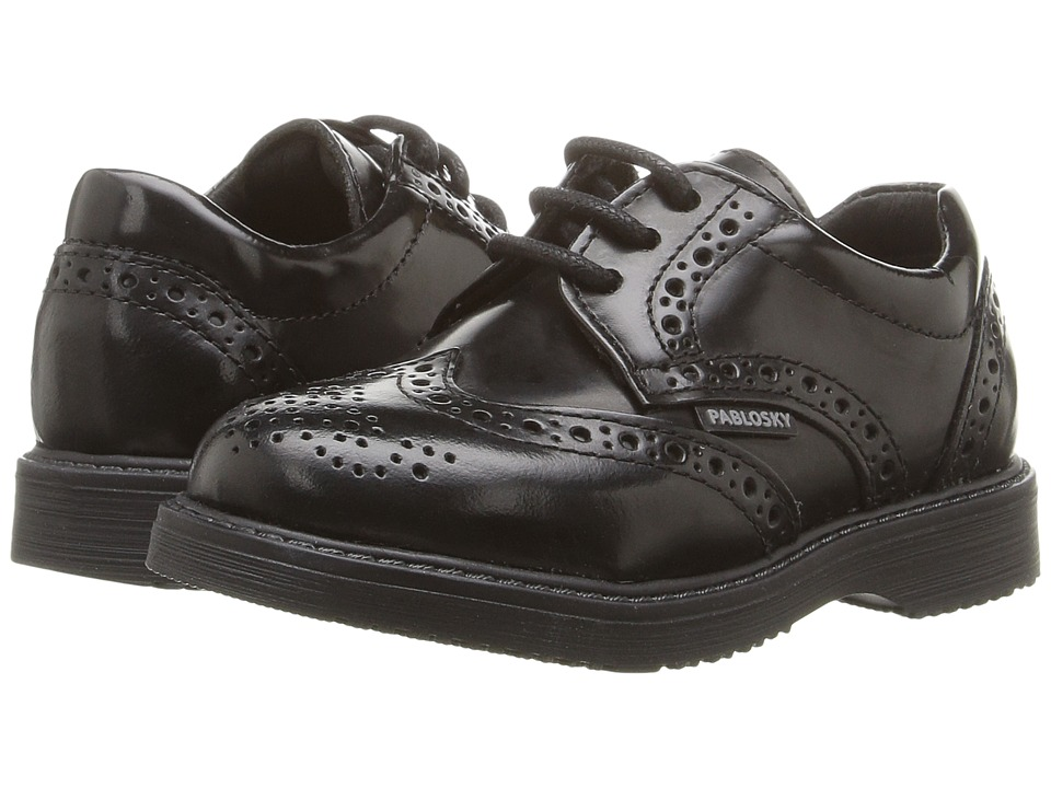 Pablosky Kids - 7985 (Toddler/Little Kid/Big Kid) (High Gloss Black) Boy's Shoes