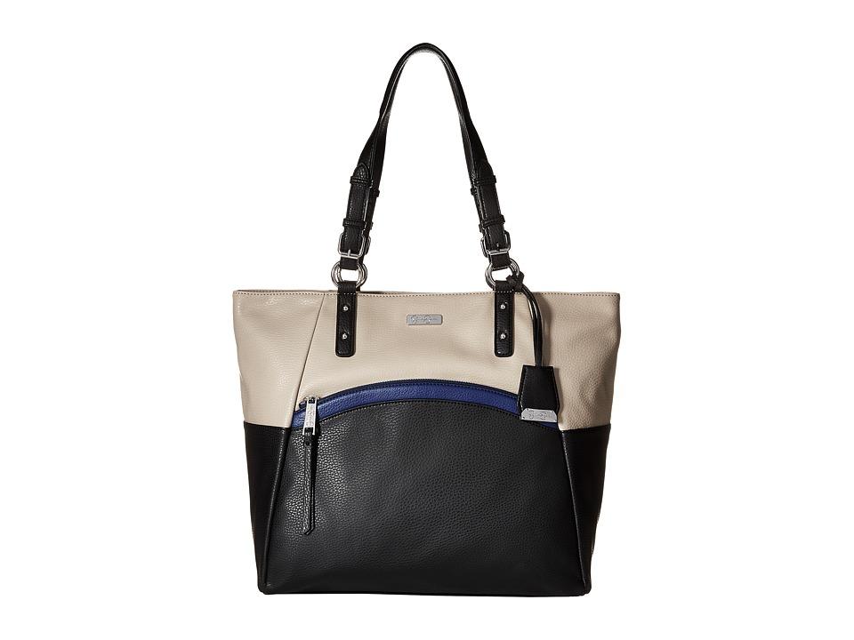 Jessica Simpson - Noa Tote (Black/Cloud Grey/Deep Cobalt) Tote Handbags