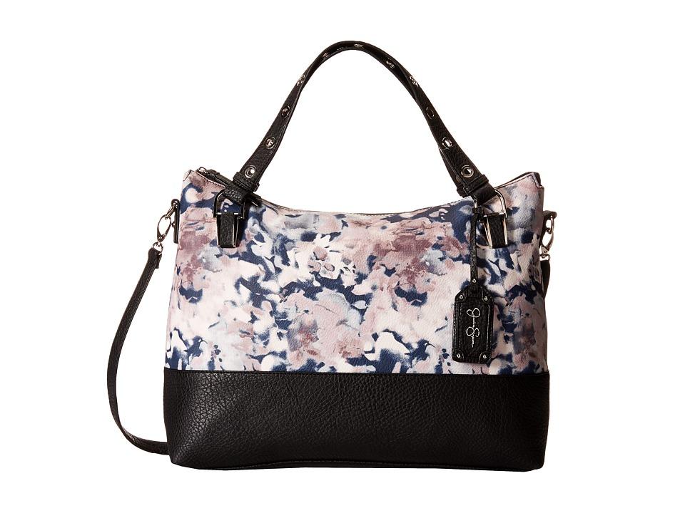 Jessica Simpson - Sutton Crossbody Tote (Nora Floral/Black) Tote Handbags