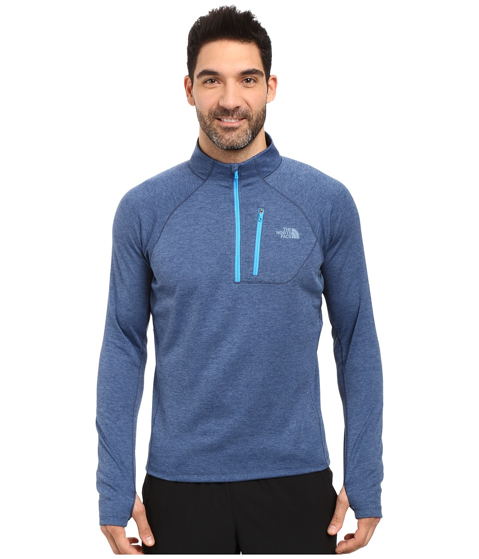 The North Face - Impulse Active 1/4 Zip Pullover (Shady Blue Heather/Shady Blue) Men's Long Sleeve Pullover