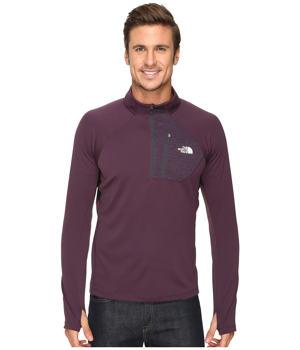The North Face - Impulse Active 1/4 Zip Pullover (Knight Purple/TNF Black) Men's Long Sleeve Pullover
