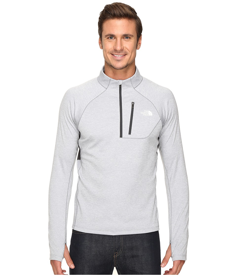 The North Face - Impulse Active 1/4 Zip Pullover (TNF Light Grey Heather/Asphalt Grey) Men's Long Sleeve Pullover
