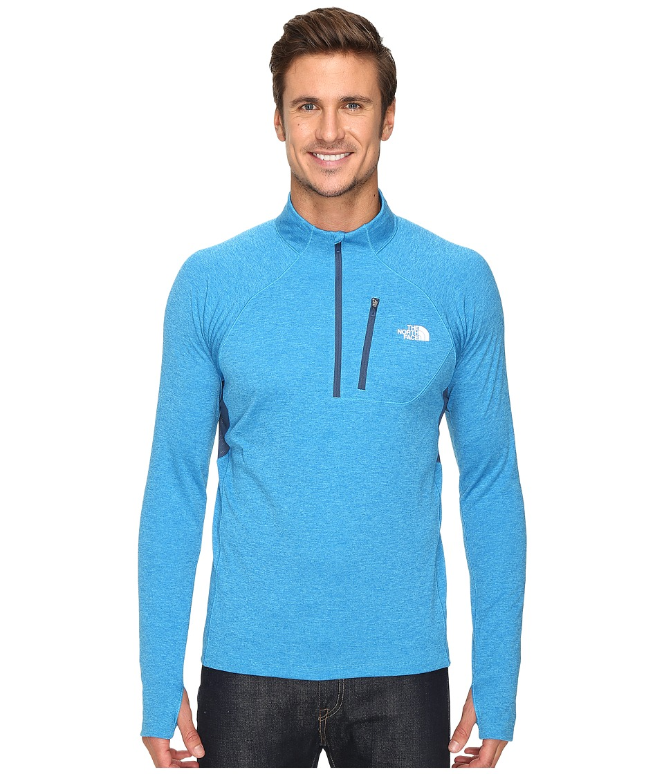 The North Face - Impulse Active 1/4 Zip Pullover (Blue Aster Heather/Shady Blue) Men's Long Sleeve Pullover