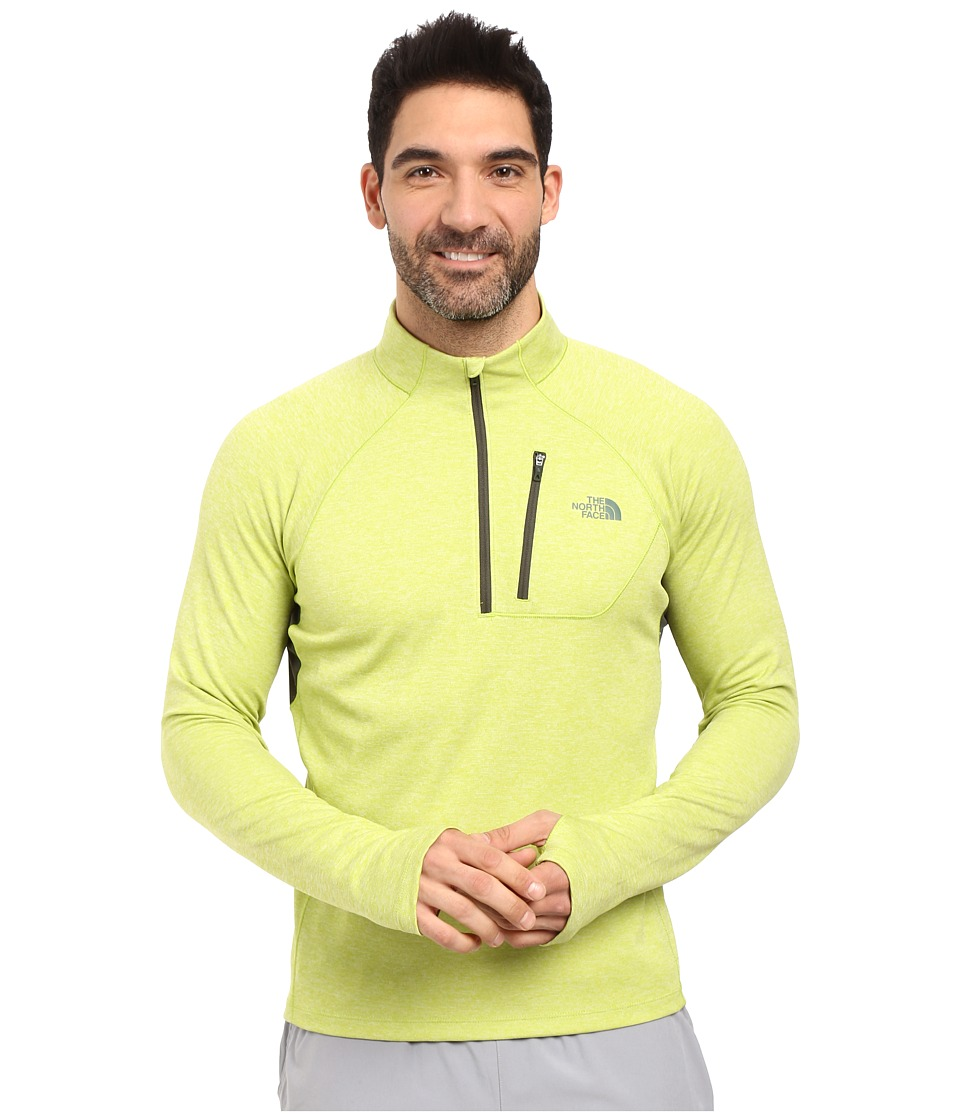 The North Face - Impulse Active 1/4 Zip Pullover (Chive Green Heather/Climbing Ivy Green) Men's Long Sleeve Pullover